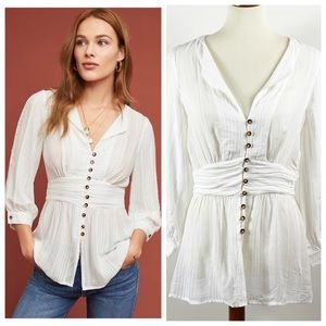 Anthropologie Maeve Isolode Waisted Blouse